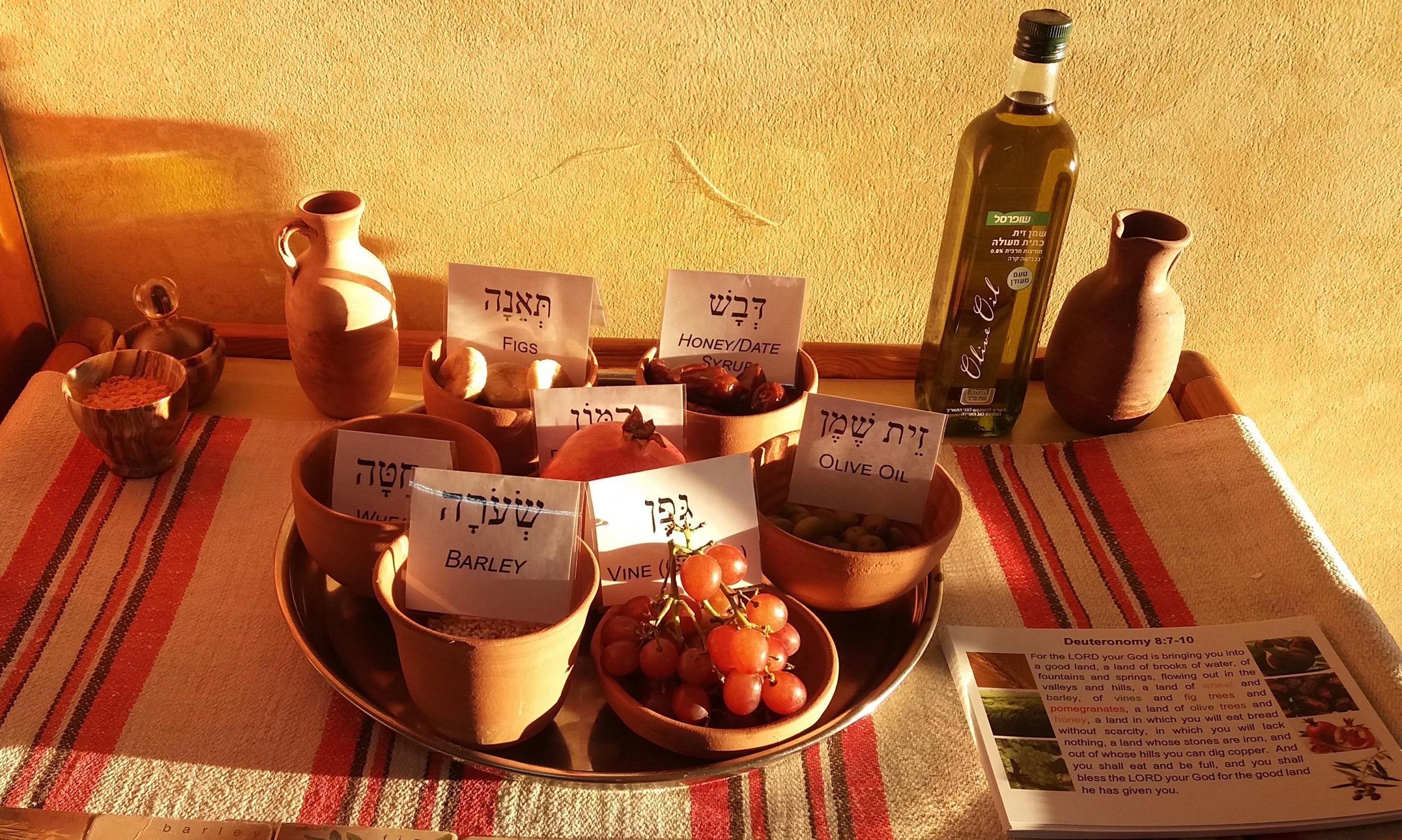 Raamatullisen aterian ainesosia